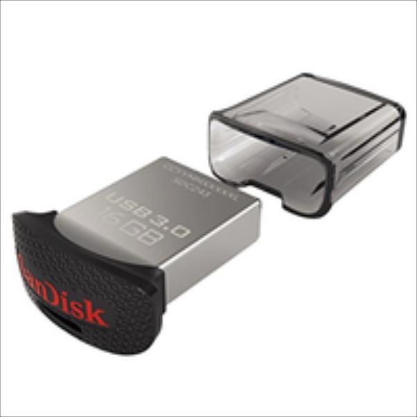 SanDisk Ultra Fit 64GB USB3.0, 128-bit AES, Up to 130MBs USB Flash atmiņa