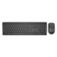 Dell KM636 Wireless, QWERTY, Black, Yes, US International, Yes klaviatūra