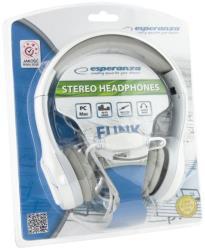 ESPERANZA Audio Stereo Folding Headphones with volume control EH140W|3m|White austiņas