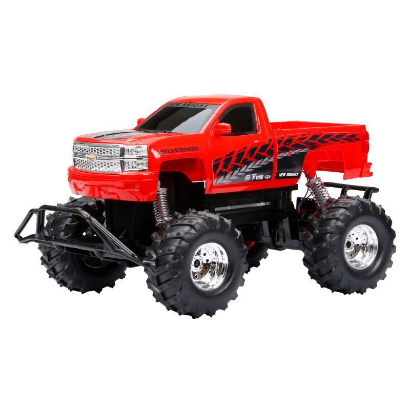 New Bright 1:10 R/C Chevrolet Silverado Red USB Radiovadāmā rotaļlieta