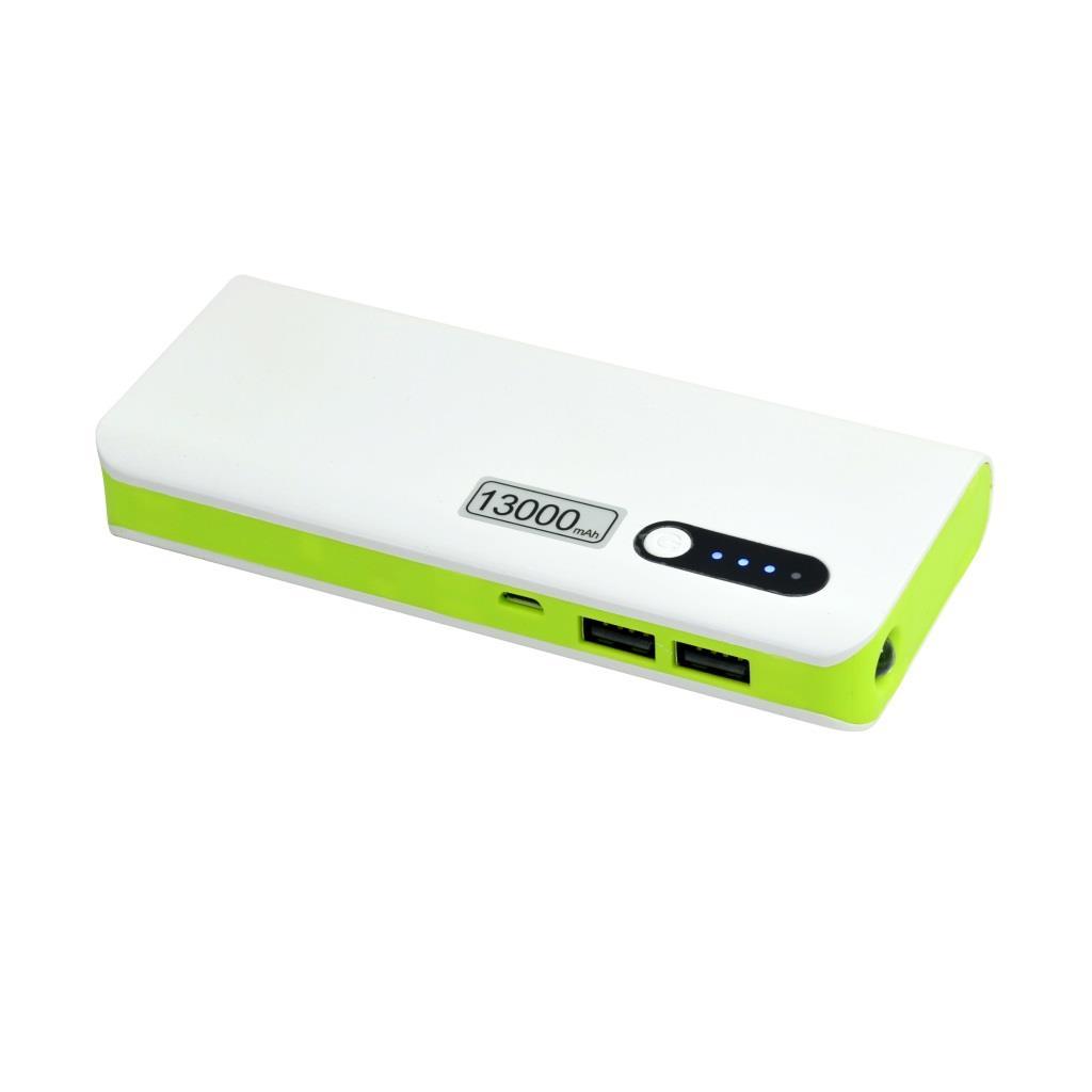 Msonic MY2590WE, 13000mAh, white-green Powerbank, mobilā uzlādes iekārta