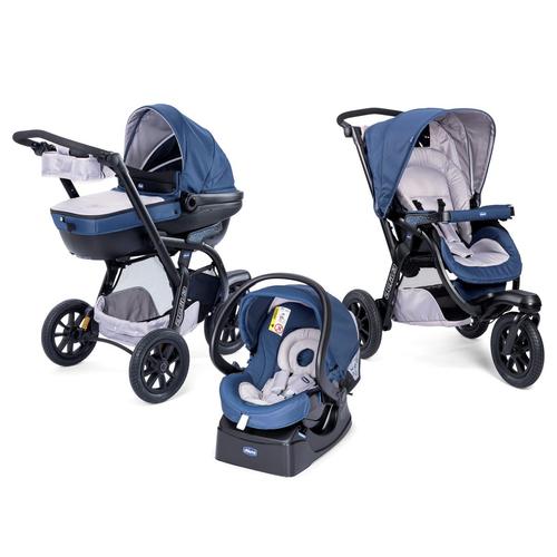 Chicco Trio Activ3 Blue Passion bērnu ratiņi