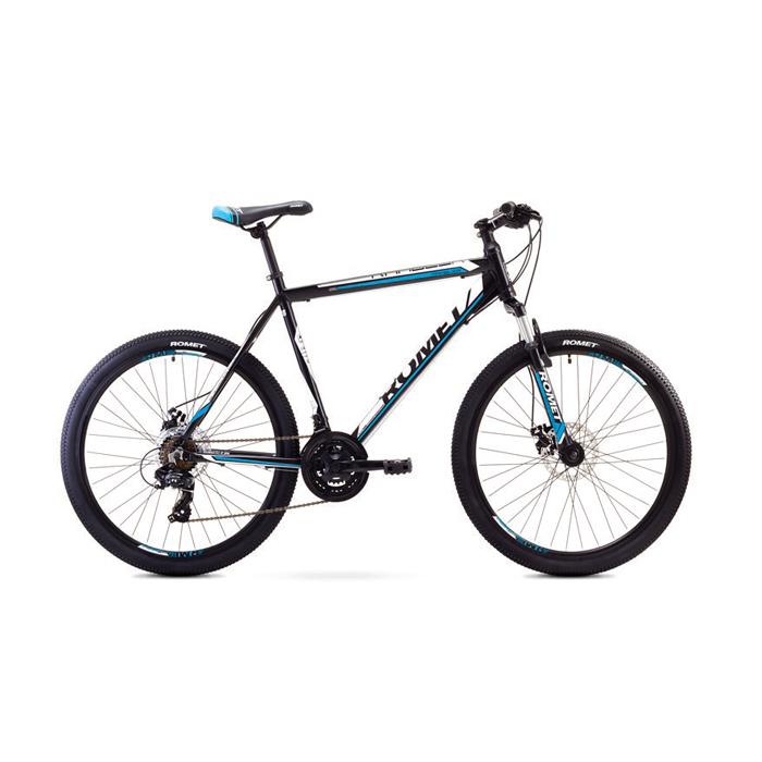 ROMET RAMBLER 26 2 MTB 17-M R26 MELNS/ZILS kalnu velosipēds MTB