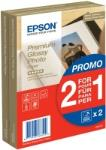 Paper Epson Premium Glossy Photo | promo 2 in 1  | 255g | 10x15 | 80sheets foto papīrs