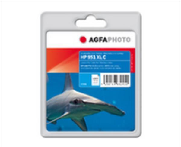 AgfaPhoto HP NO. 951 XL CYAN, CN046AE, APHP951CXL Ink C, rpl HP No. 951 XL CY Cyan, Pages 1500, 25ml kārtridžs