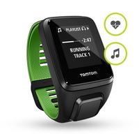 Tomtom zegarek sportowy Runner 3 Cardio + Music L Melns/zielony sporta pulkstenis