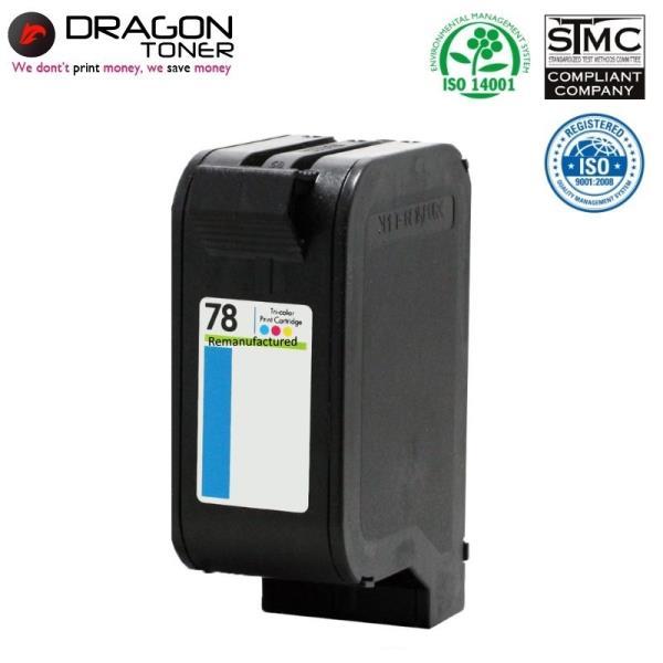 Dragon HP 78 C6578AE 3-Krāsu XL Tintes Kārtridžs 42ml priekš DeskJet 930c 1000c uc HQ Premium Analogs aksesuārs mobilajiem telefoniem