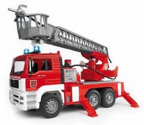 Bruder MAN Fire Engine with Ladder, Pump, Light and Sound Rotaļu auto un modeļi