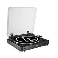 Audio Technica AT-LP60BKBT Fully Automatic Wireless Belt-Drive Stereo Turntable, Black Audio Technica AT-LP60BKBT mūzikas centrs