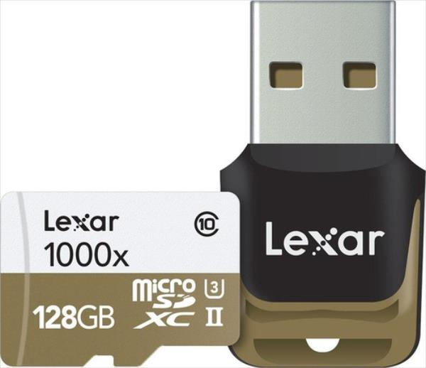 Lexar 128GB microSDHC UHS-II 1000x with USB Reader (Class 10) U3 atmiņas karte