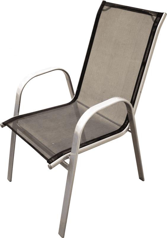 Krēsls metāla melna krāsa 54X70X95cm Dārza mēbeles