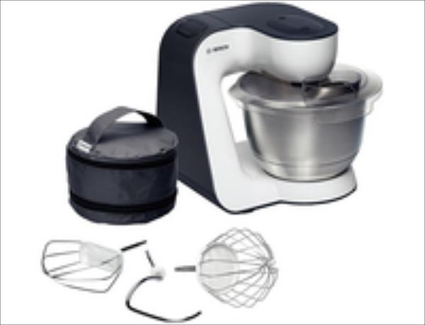 Bosch MUM54A00 Kitchen Machine StartLine, 900W, 7 switch settings, White/Grey Virtuves kombains