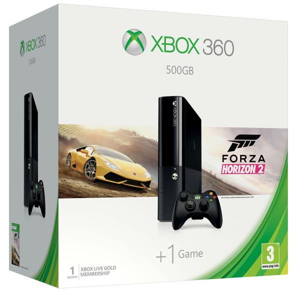 XBOX SLIM 360 500GB + Forza Horizon 2 spēļu konsole