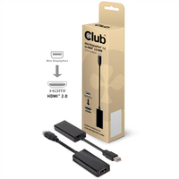 CLUB3D MINI DISPLAYPORT>HDMI2.0 4K60Hz adapteris