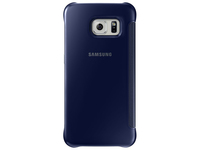 Samsung  S6 Edge Clear View Cover Black aksesuārs mobilajiem telefoniem