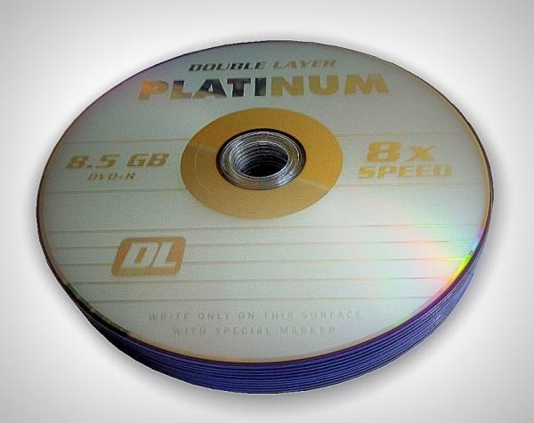 PLATINUM DVD+R 8,5GB  8x DOUBLE LAYER SHRINK 10pc matricas