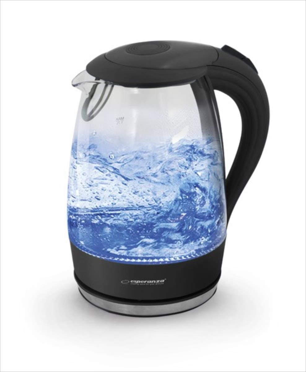 Esperanza EKK011K Electric Kettle Glass SALTO ANGEL 1,7 L Elektriskā Tējkanna