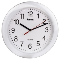 HAMA QUARTZ WALL CLOCK   PP-250 WHITE Sienas pulkstenis