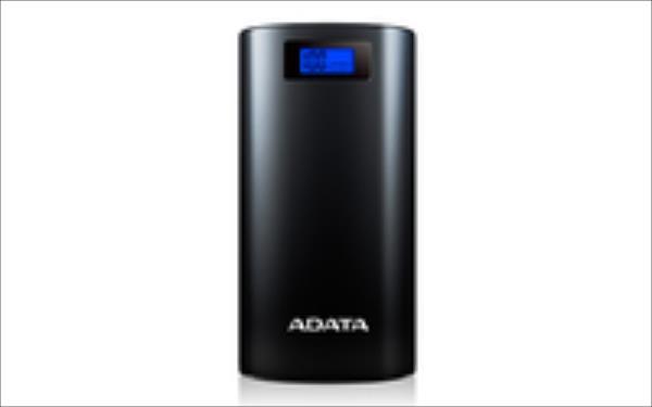 ADATA P20000D Power Bank, 20000mAh, LED flashlight, black Powerbank, mobilā uzlādes iekārta