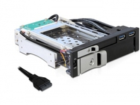 Delock  Mobile Rack 5,25 f. 2,5/3,5 SAS/SATA HDD + 2xUSB aksesuārs datorkorpusiem