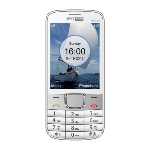 MaxCom MM320  balts - white Mobilais Telefons