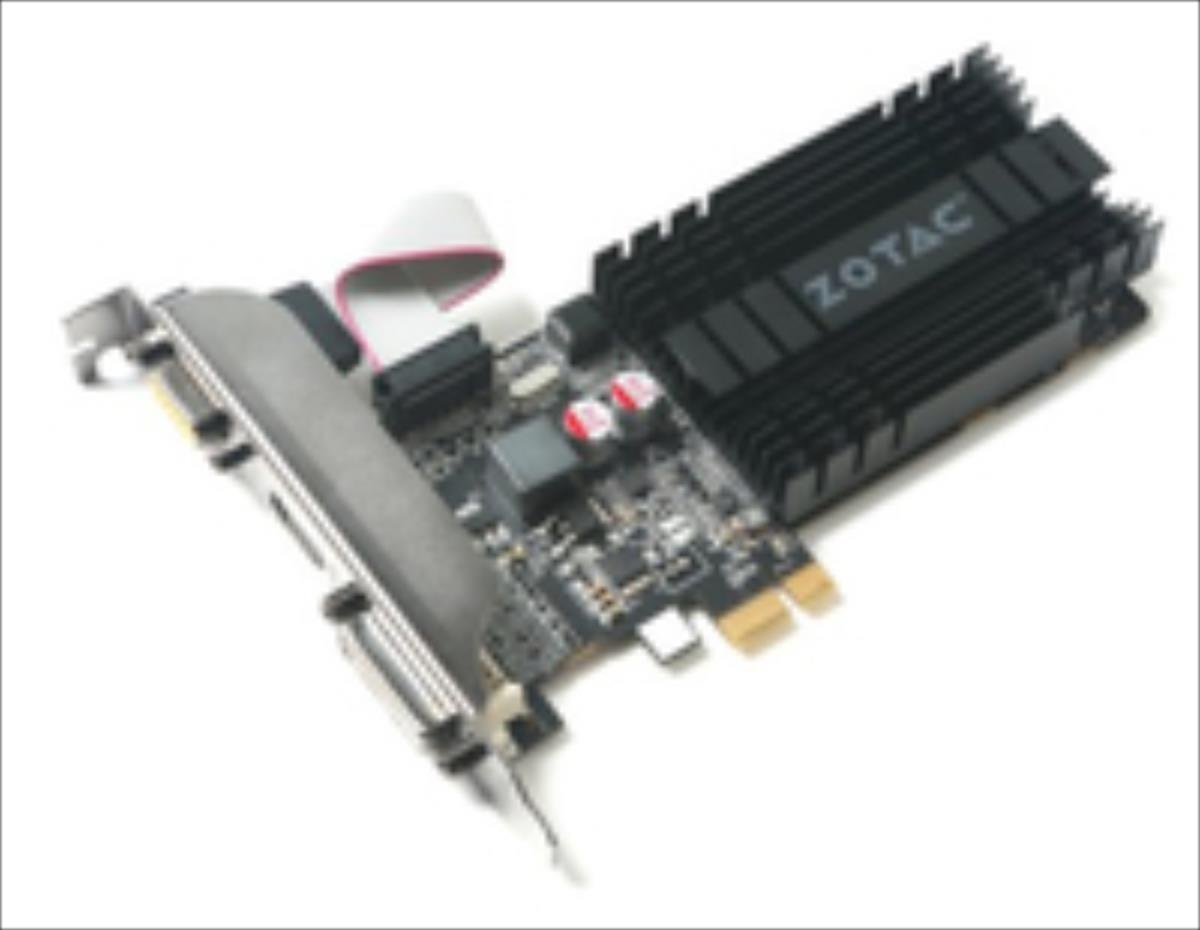 ZOTAC GeForce GT 710, 1GB DDR3 (64 Bit), HDMI, DVI, VGA video karte