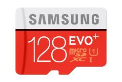 SAMSUNG 128GB, MICRO SDXC EVO PLUS, CLASS 10 WITH SD ADAPTER, R80/W20 MB/s karšu lasītājs