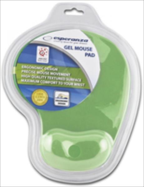 ESPERANZA Gel Mouse Pad EA137G | 230 x 190 x 20 mm | Green | Blister peles paliknis
