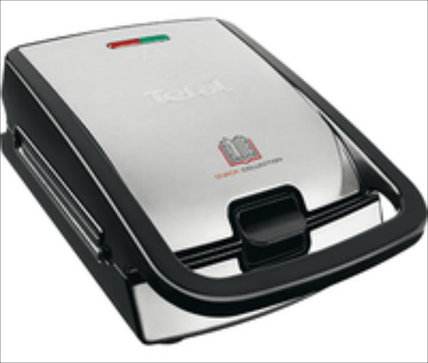 TEFAL Sandwich and Waffle Maker SW852D12 Inox / black, 700 W, Number of plates 2 vafeļu panna