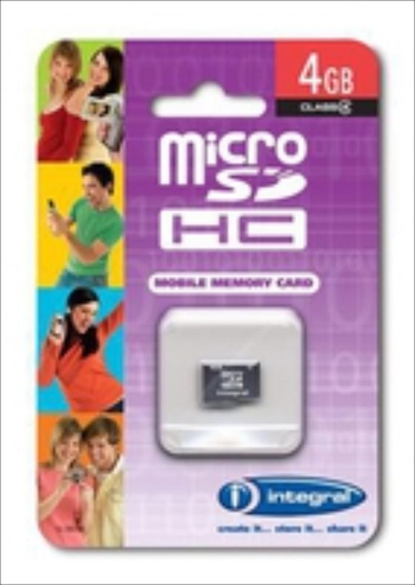 Integral microSDHC 4GB CL4 atmiņas karte