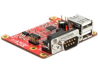 Raspberry Erweiterung Delock USB micro B -> 2x USB/2x RS-232 Raspberry PI datora daļas