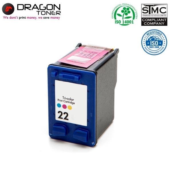 Dragon HP 22 C9352A 3-Krāsu XL Tintes Kārtridžs 15ml priekš DeskJet 3910 F2140 uc HQ Premium Analogs aksesuārs mobilajiem telefoniem