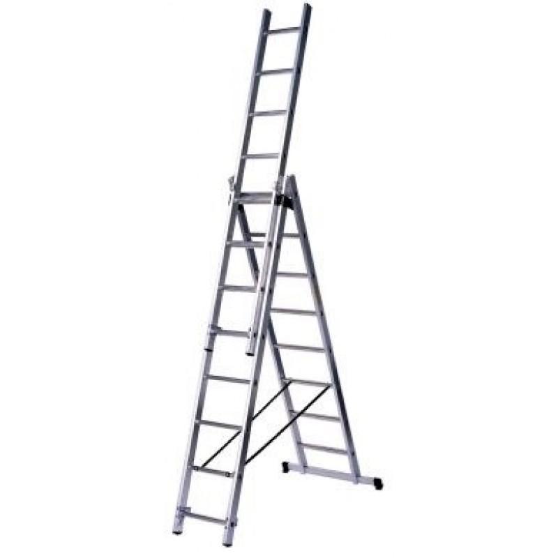 Besk Kāpnes alumīnija 3x11 pakāpieni