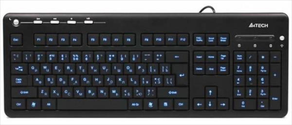 A4Tech KD-126-1 Black USB (Blue Light) klaviatūra