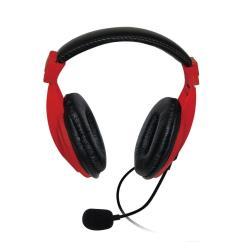 VAKOSS Stereo headset with microphone headphones Volume Control SK-601KR red austiņas
