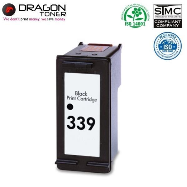 Dragon HP 339 C8767EE Melns XL Tintes Kārtridžs 35ml priekš DeskJet 5940 6940 uc HQ Premium Analogs aksesuārs mobilajiem telefoniem