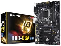 GIGABYTE H110-D3A Bitcoin Edition pamatplate, mātesplate