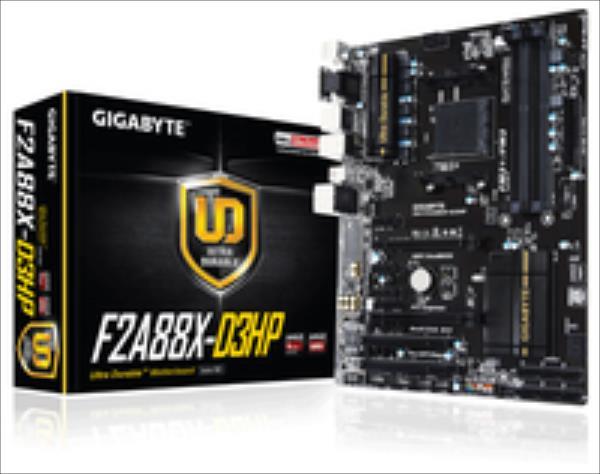 Gigabyte GA-F2A88X-D3HP, A88X, DualDDR3-2133, SATA3, RAID, HDMI, DVI, D-Sub, ATX pamatplate, mātesplate