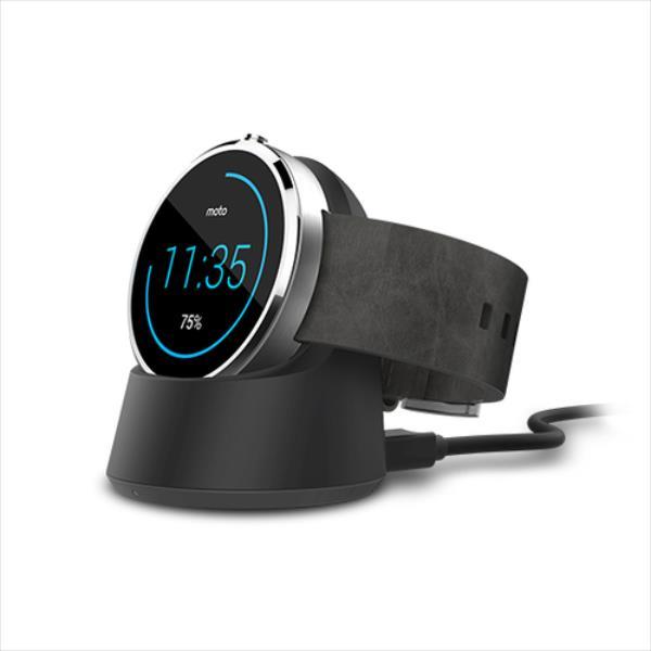 Motorola Moto 360 Docking Black Viedais pulkstenis