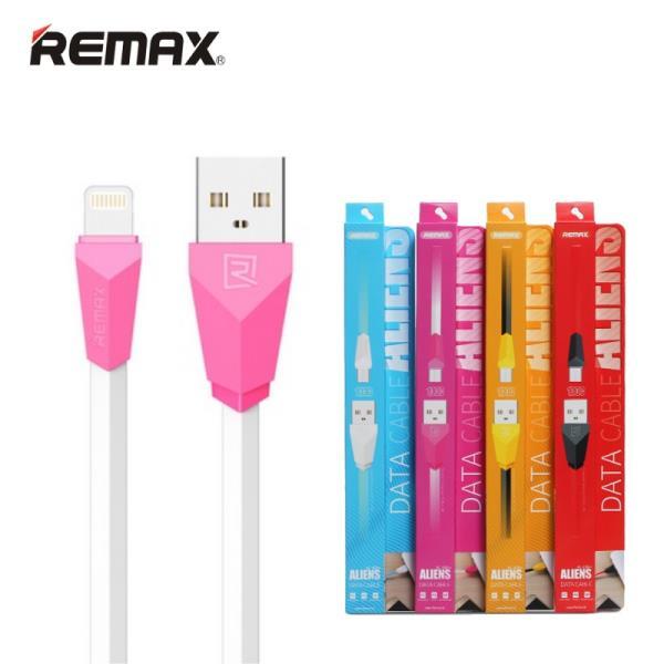 Remax Alien Super Plakans Lightning uz USB Datu un uzlādes Kabelis 1m Balts (MD818) (EU Blister) aksesuārs mobilajiem telefoniem