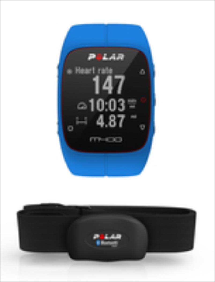 Polar M400 HR Blue sporta pulkstenis, pulsometrs