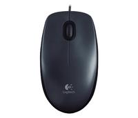 Logitech M100, Corded mouse, Grey Datora pele