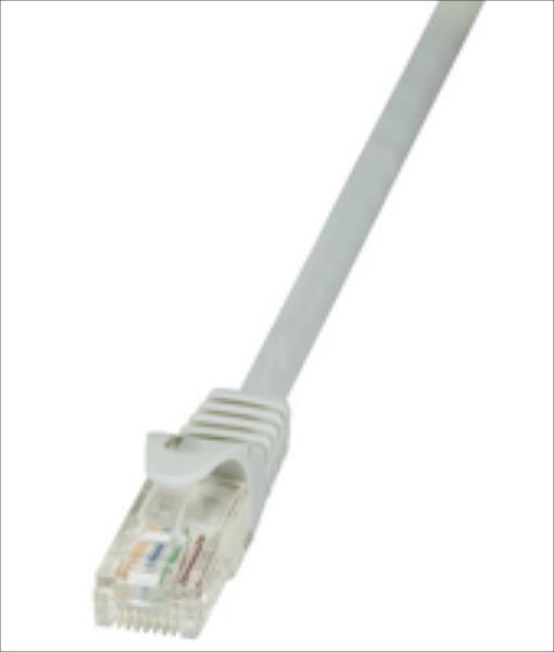 LOGILINK - Patchcord CAT 5e UTP 10m grey tīkla kabelis