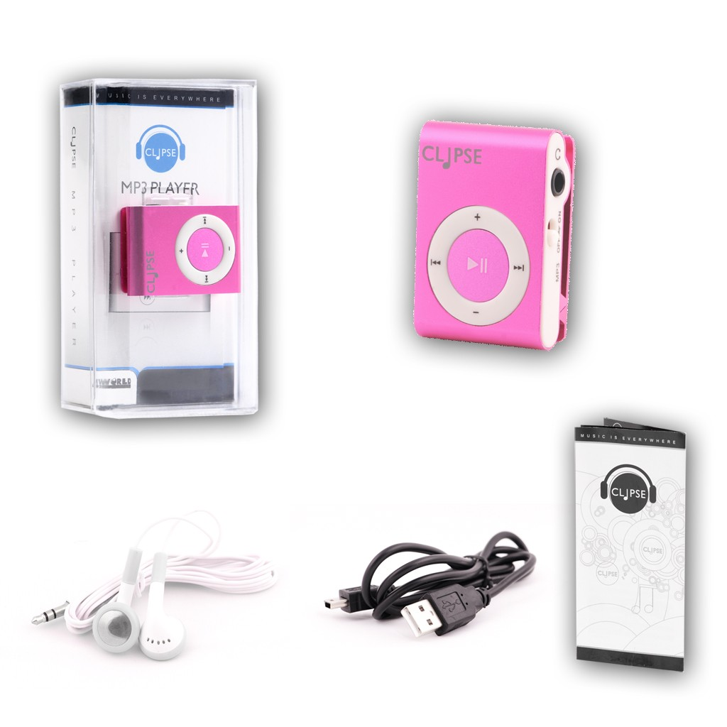 4WORLD MP3 player CLIPSE pink MP3 atskaņotājs