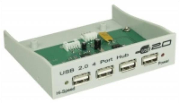HUB USB InLine USB 2.0 4 Porty do zatoki 3.5 cala Grey 33393H USB centrmezgli
