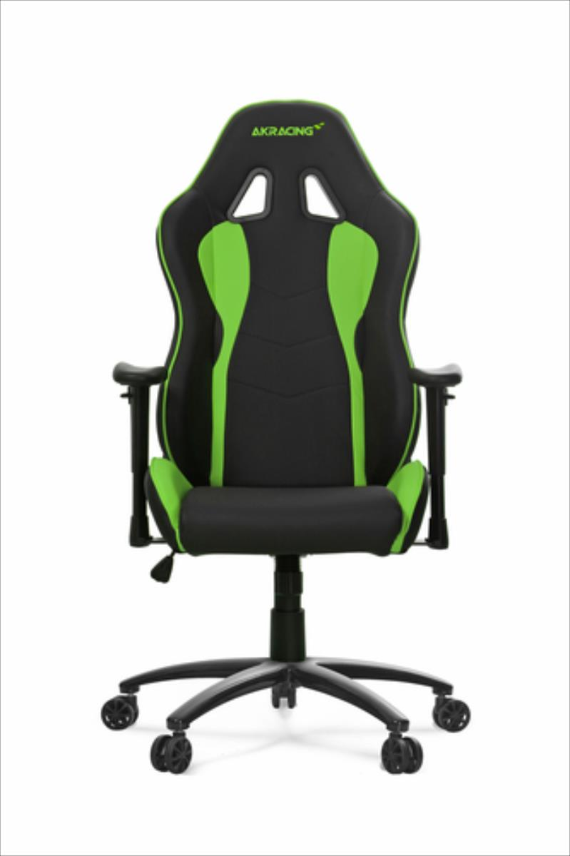 AKRACING Nitro Gaming Chair - black/green datorkrēsls, spēļukrēsls