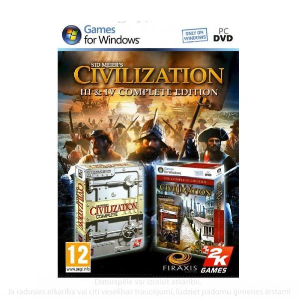 UNIVERSAL CIVILIZATION 3 & 4 COMPLETE EDITION PC spēle