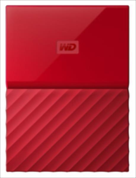 External HDD WD My Passport 2.5'' 2TB USB 3.0 Red Ārējais cietais disks