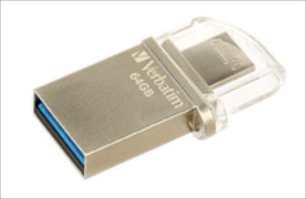 Verbatim USB DRIVE 3.0 OTG MICRO 64GB USB Flash atmiņa