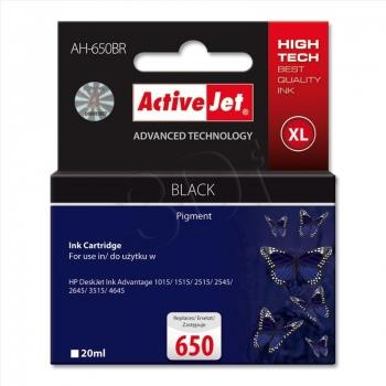 ActiveJet AH-650BR | black | 20 ml | HP HP 650 CZ101AE kārtridžs